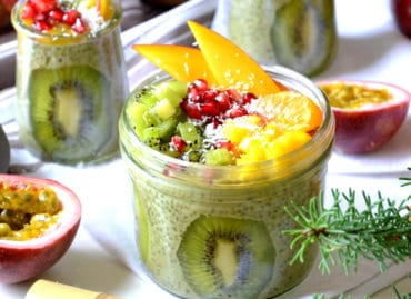 Green chia pudding d'hiver